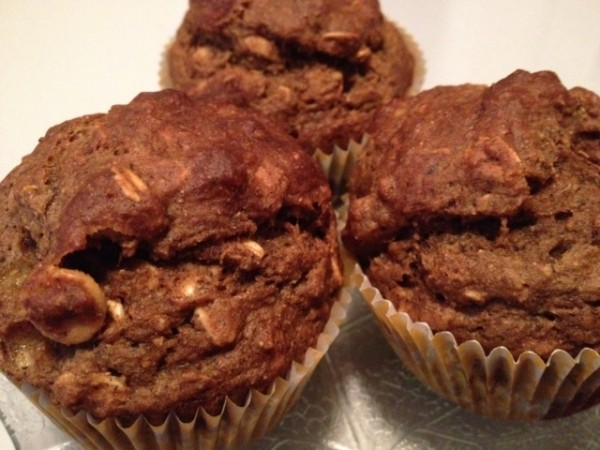 My Daily Pastry - No-Oil Banana Peanut Chip Muffins